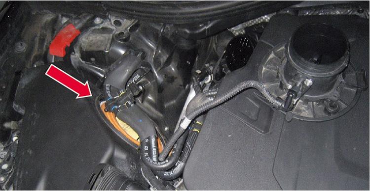Σχήμα 1: Φίλτρο αέρα όπως τοποθετείται σε κινητήρα V6 3.0 TDI