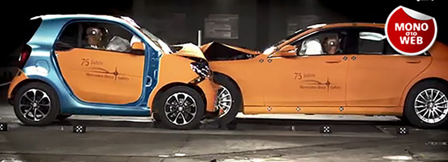 Crash test: Smart ForTwo vs Mercedes S-Class
