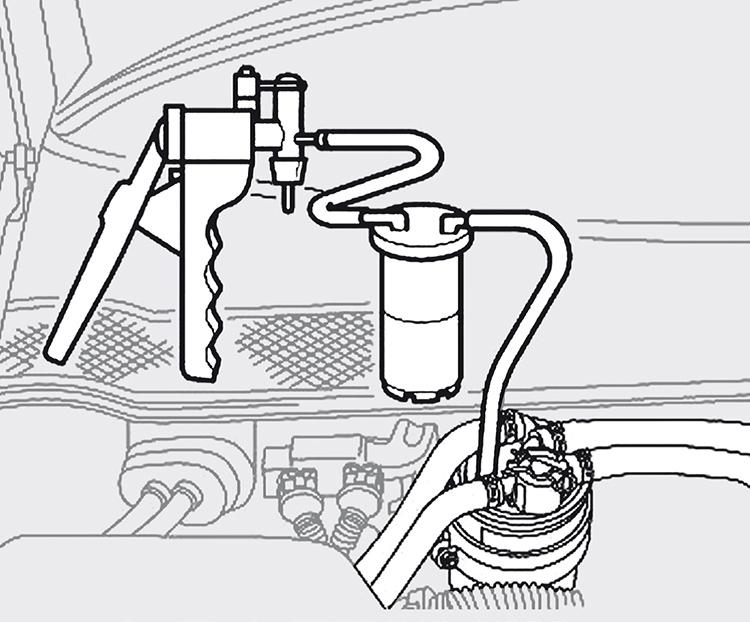 Σχήμα: Άντληση αέρα με χρήση εμπορικής αντλίας κενού.